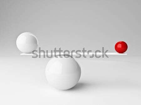 Сток-фото: баланса · 3D · изображение · красный · белый
