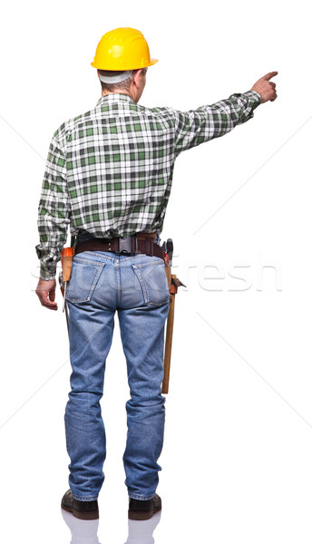 senior handyman Stock photo © tiero