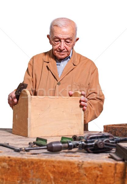 old carpenter Stock photo © tiero