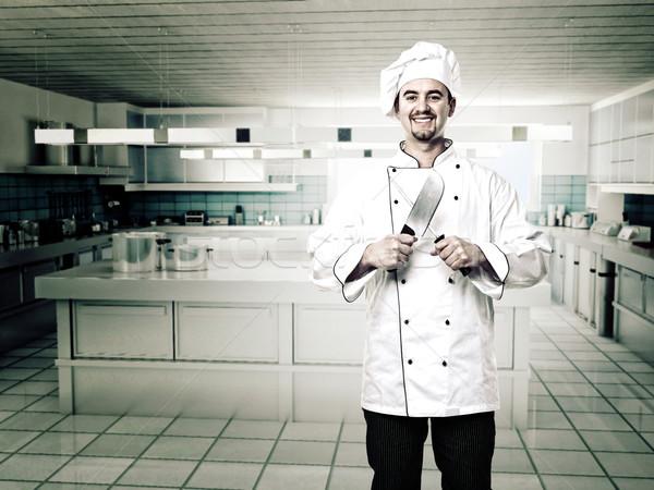 chef in kitchen Stock photo © tiero