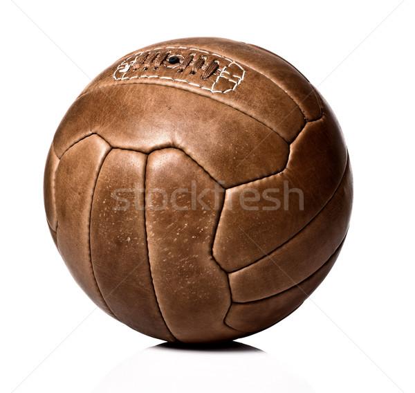 ストックフォト: ヴィンテージ · ボール · 画像 · レトロな · 革 · サッカーボール
