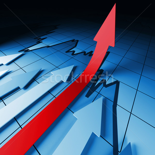 financial stat arrows Stock photo © tiero