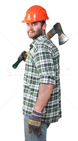confident lumberjack Stock photo © tiero