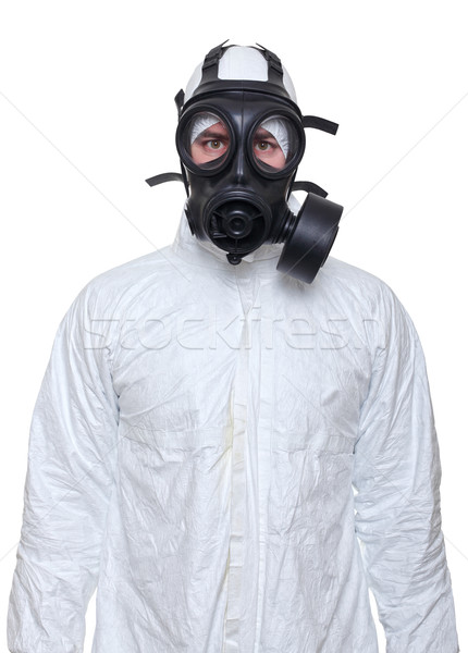 man with gas mask Stock photo © tiero