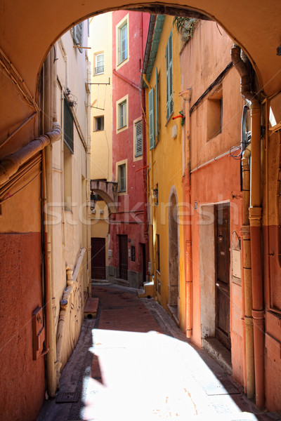 streetview of menton Stock photo © tiero