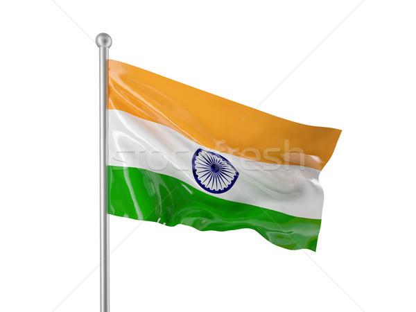 Stockfoto: Indië · vlag · indian · geïsoleerd · witte · textuur