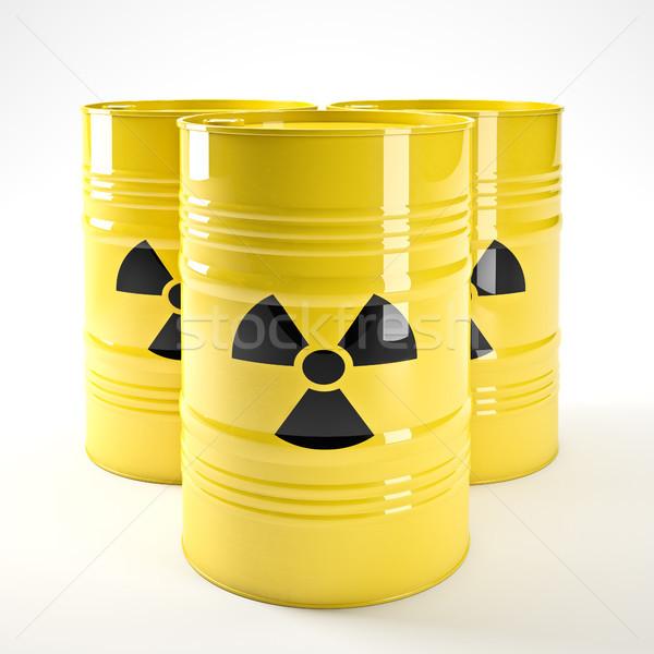 Radyoaktif 3D görüntü sarı kimyasal güvenlik Stok fotoğraf © tiero