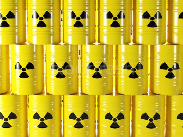 放射性 バレル 3D 黄色 にログイン 業界 ストックフォト © tiero
