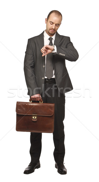businessman look his watch Stock photo © tiero