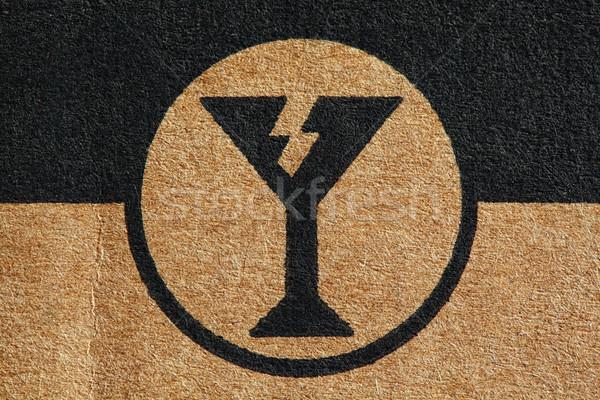 Fragile cartone usato primo piano immagine Foto d'archivio © tiero