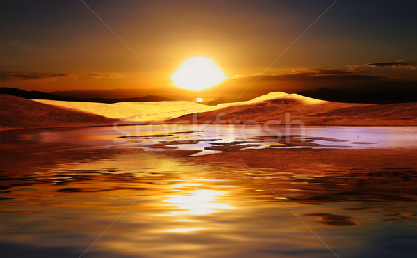 sunset in a desert Stock photo © tiero