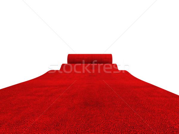 Stok fotoğraf: Kırmızı · halı · klasik · beyaz · başarı · halı · kutlama