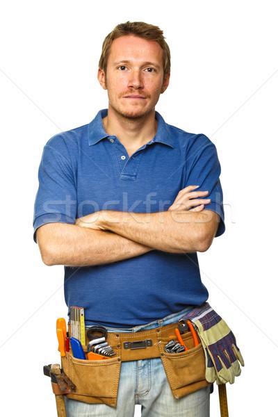 confident handyman portrait Stock photo © tiero