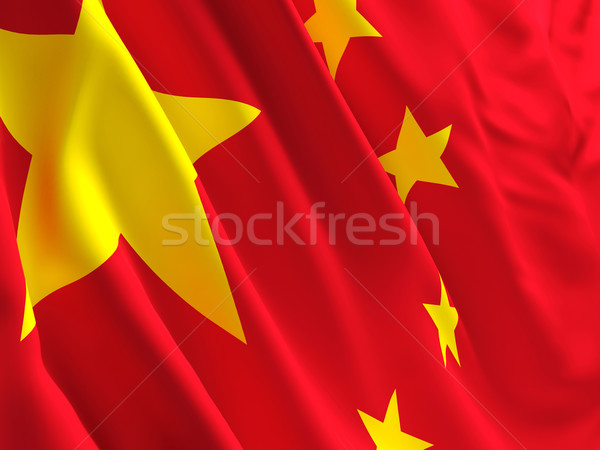 China vlag 3D afbeelding chinese abstract Stockfoto © tiero