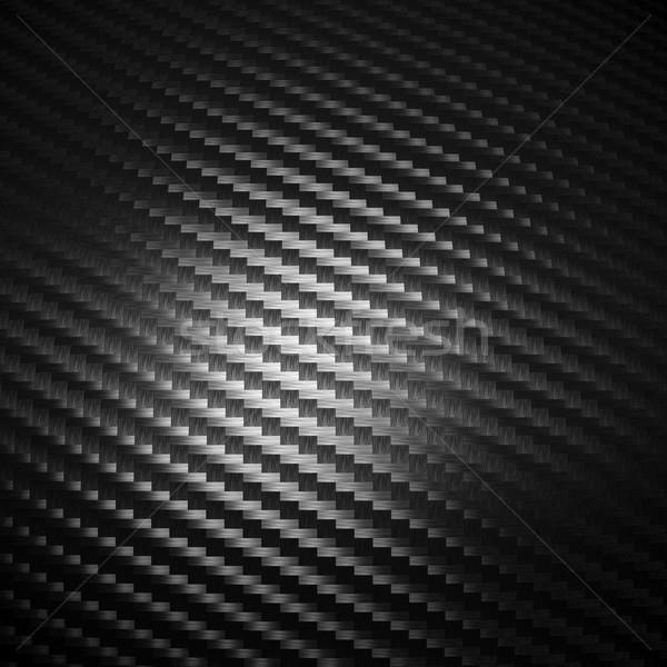 Fibra di carbonio texture dettaglio sfondo nero pattern Foto d'archivio © tiero