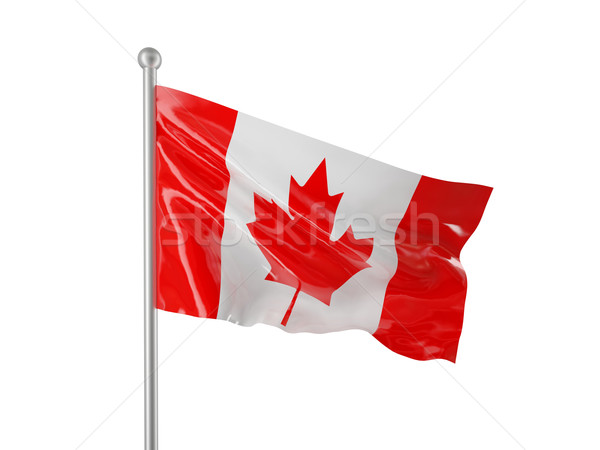 Drapeau canadien Canada pavillon isolé blanche fond Photo stock © tiero