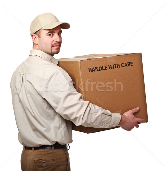 Mensajero paquete aislado blanco hombre Foto stock © tiero