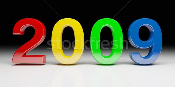 Renkli 2009 yeni yıl 3D görüntü Stok fotoğraf © tiero