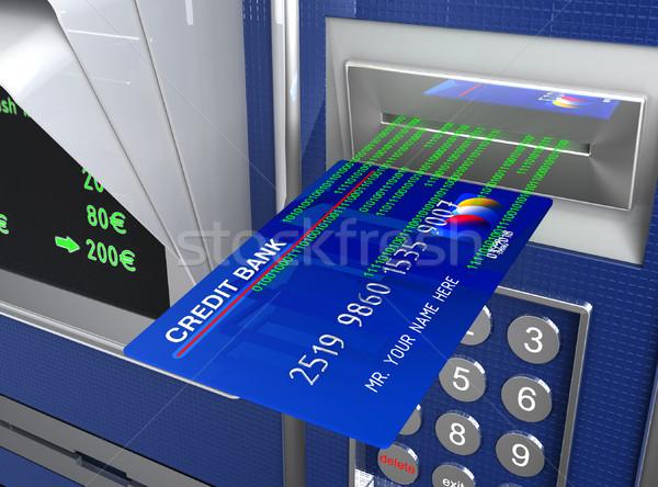 cash machine and e-commerce Stock photo © tiero
