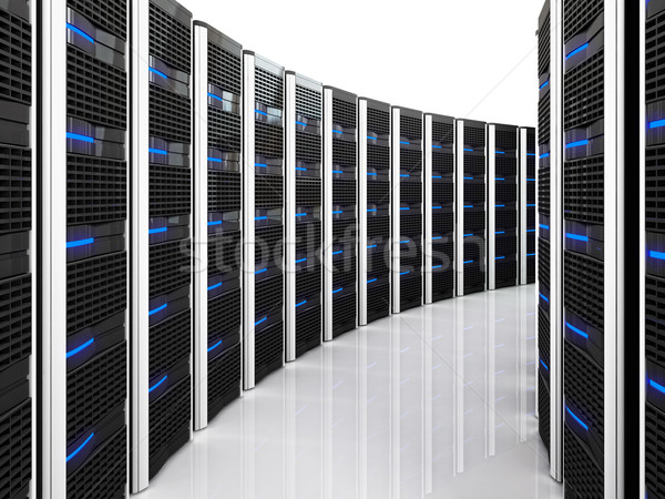 server 3d background Stock photo © tiero