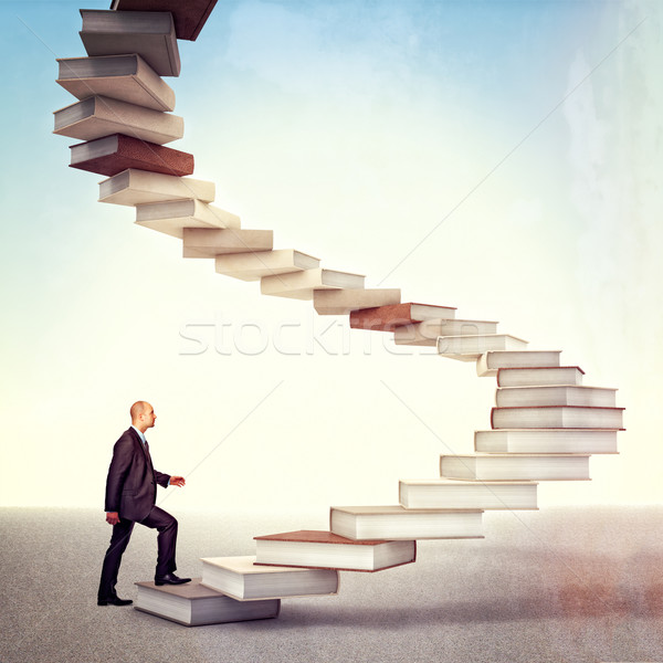 book stair and man Stock photo © tiero