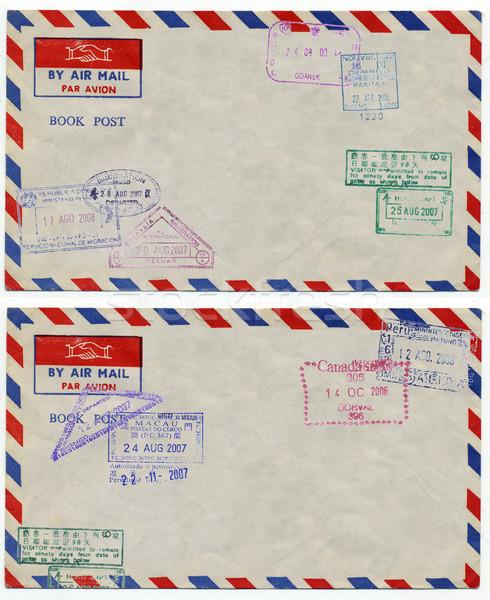 Foto stock: Ar · e-mail · imagem · clássico · vintage · envelope