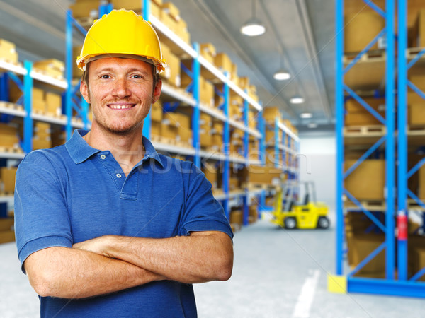 labor in warehouse Stock photo © tiero