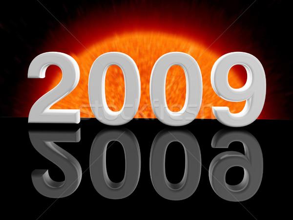 2009 yılbaşı gün görüntü 3D kutlama Stok fotoğraf © tiero