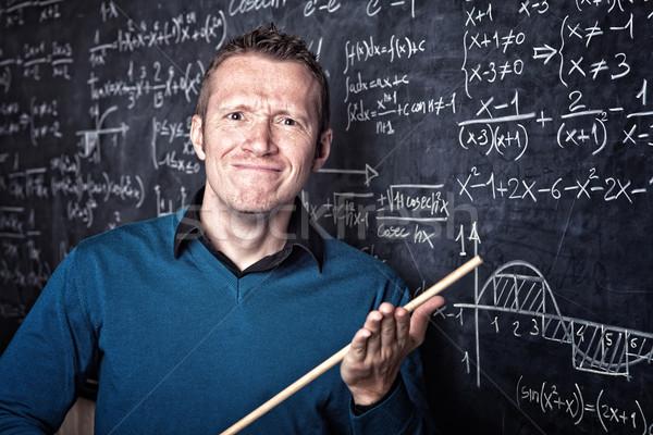 учитель школы портрет кавказский доске улыбка Сток-фото © tiero