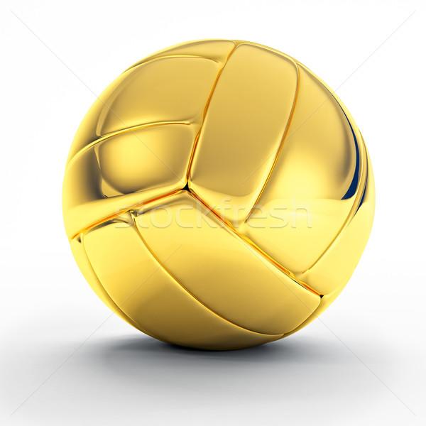 Dourado vôlei bola 3D imagem clássico Foto stock © tiero