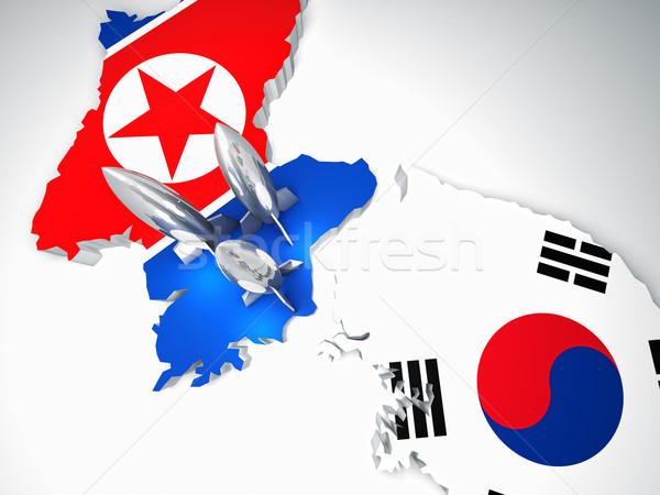 north and south korea Stock photo © tiero