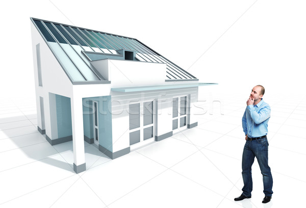 think about new house Stock photo © tiero