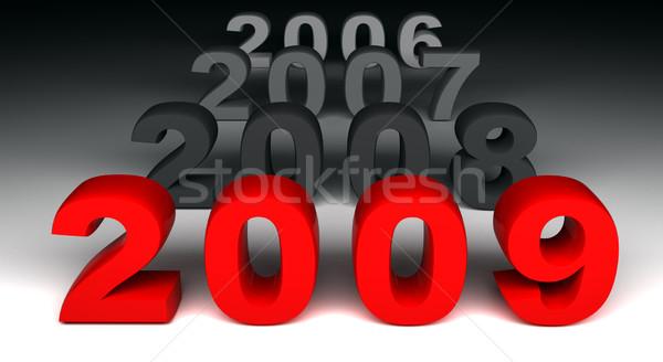 2009 3D görüntü yeni yıl gün Stok fotoğraf © tiero