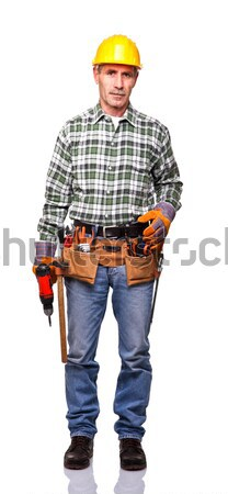 worker with drill Stock photo © tiero