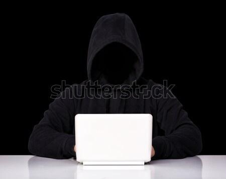 ハッカー 義務 肖像 孤立した 白 顔 ストックフォト © tiero