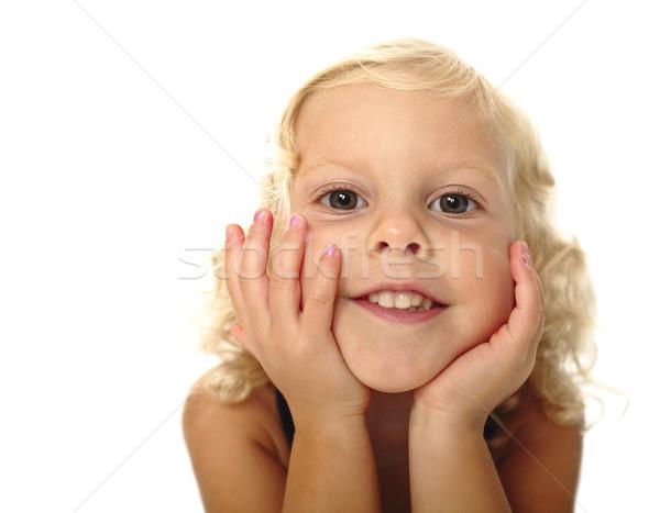 Divertente bambino ritratto primo piano giovani piccolo Foto d'archivio © tiero