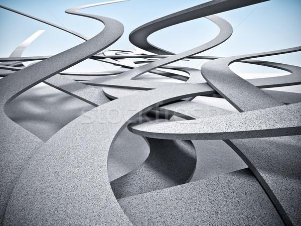 Façon ciel résumé image 3D ciel Photo stock © tiero