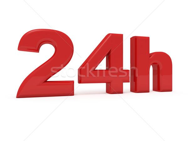24 dienst 3D afbeelding werk tijd Stockfoto © tiero