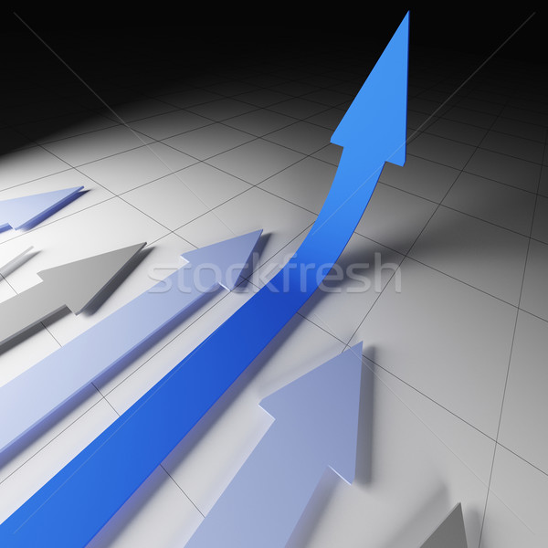 arrow financial stat Stock photo © tiero