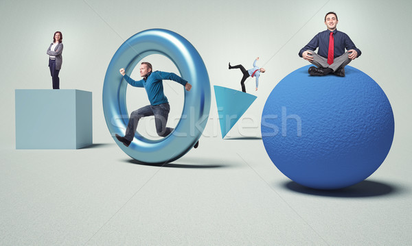 Diverso persone uomini d'affari 3D solido abstract Foto d'archivio © tiero