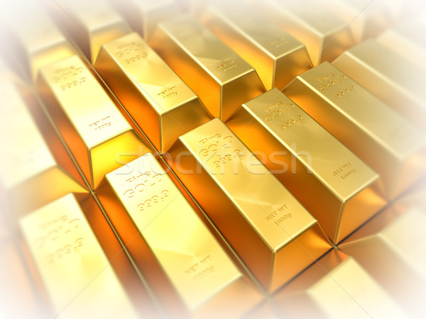 golden ingot Stock photo © tiero