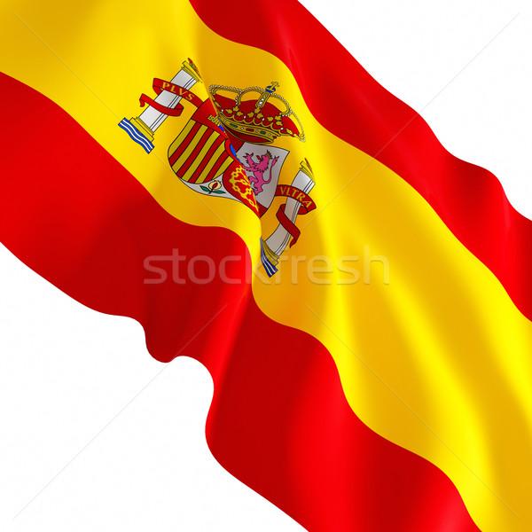 スペイン国旗 白 いい 3D フラグ スペイン ストックフォト © tiero