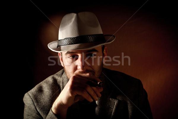 gangster portrait Stock photo © tiero