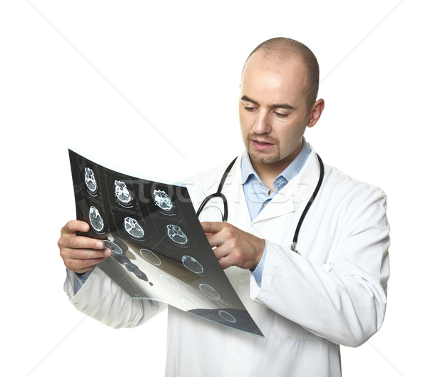 young doctor check tomography result Stock photo © tiero