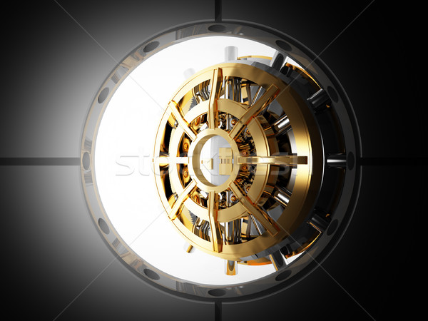 bank door vault 3d Stock photo © tiero