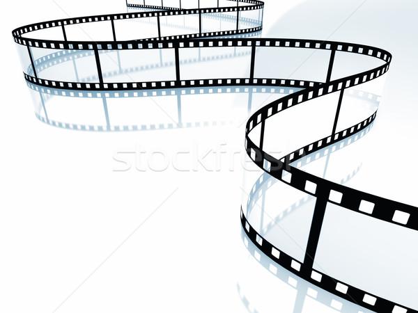 Film 3D kép filmszalag fehér mozi Stock fotó © tiero