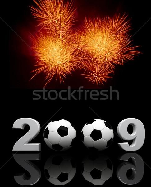 2009 buli kép 3D tűzijáték absztrakt Stock fotó © tiero