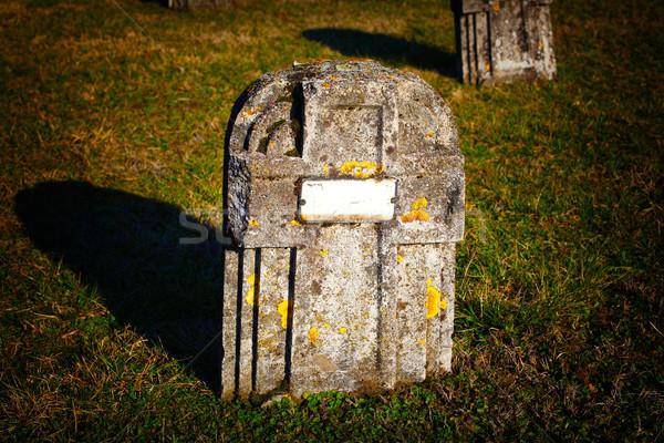 grave stone Stock photo © tiero