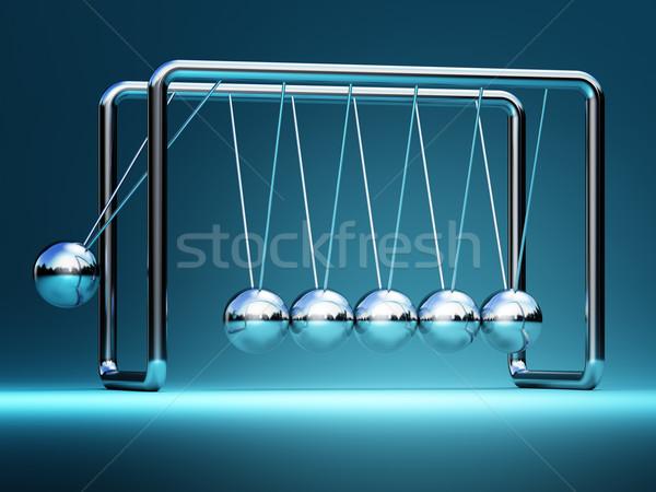 Wiege 3D Bild Business Gruppe Wissenschaft Stock foto © tiero