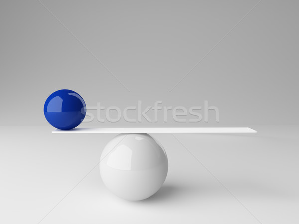 Сток-фото: не · баланса · 3D · изображение · мяча
